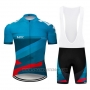 2019 Cycling Jersey Northwave Blue Red Short Sleeve and Bib Short