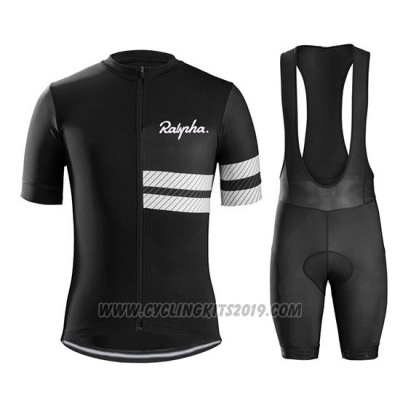 2019 Cycling Jersey Ralph Black White Short Sleeve and Bib Short