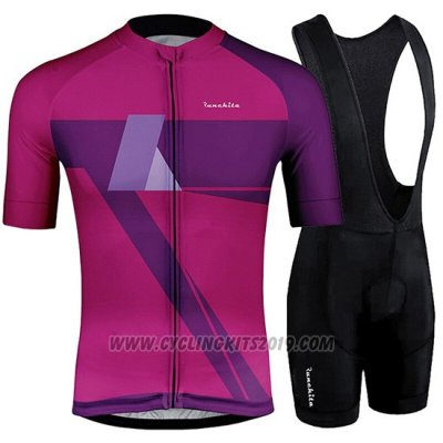 2019 Cycling Jersey Runchita Fuchsia Short Sleeve and Bib Short