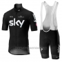 2019 Cycling Jersey Sky Black Short Sleeve and Bib Short