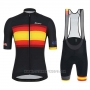2019 Cycling Jersey Spain Black Red Yellow Short Sleeve and Bib Short