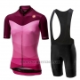 2019 Cycling Jersey Women Castelli Tabula Pink Short Sleeve and Bib Short