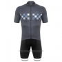 2020 Cycling Jersey DE Marchi Gray Short Sleeve and Bib Short