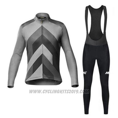 2020 Cycling Jersey Mavic Gray Long Sleeve and Bib Tight