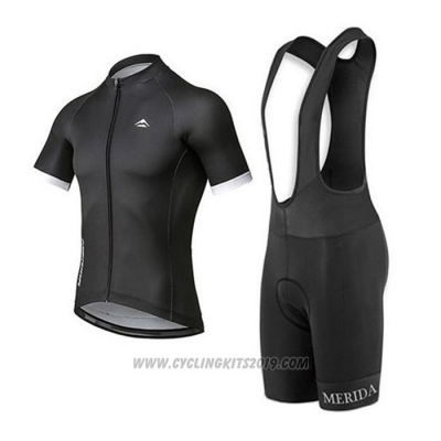 2020 Cycling Jersey Merida Black Short Sleeve and Bib Short