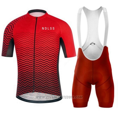 2020 Cycling Jersey NDLSS Red Short Sleeve and Bib Short