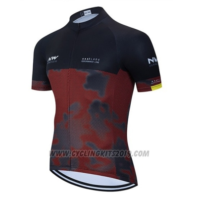 2020 Cycling Jersey Northwave Black Gray Red Short Sleeve and Bib Short