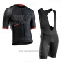 2020 Cycling Jersey Northwave Black Red Short Sleeve and Bib Short