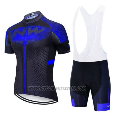 2020 Cycling Jersey Northwave Blue Black Short Sleeve and Bib Short