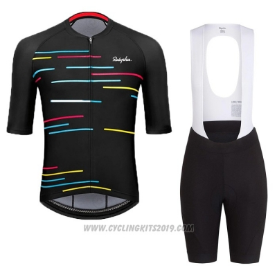 2020 Cycling Jersey Rapha Black Short Sleeve and Bib Short