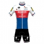 2021 Cycling Jersey Deceuninck Quick Step Champion Czech Republic Short Sleeve and Bib Short