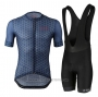2021 Cycling Jersey Le Col Deep Blue Short Sleeve and Bib Short