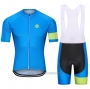 2021 Cycling Jersey Steep Blue Green Short Sleeve and Bib Short