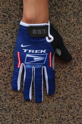 Trek Full Finger Gloves Cycling Blue