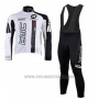 2010 Cycling Jersey BMC White Long Sleeve and Bib Tight