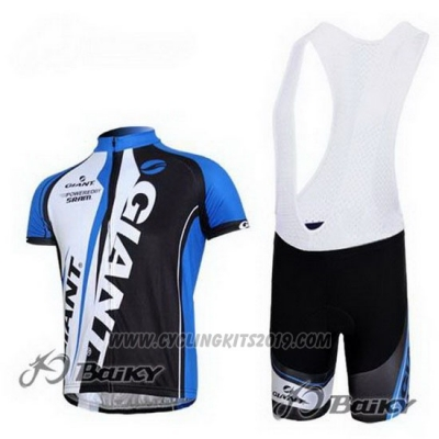 2011 Cycling Jersey Giant Black and Blue Short Sleeve and Bib Short