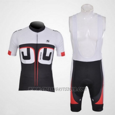 2012 Cycling Jersey Giordana White and Black Short Sleeve and Bib Short