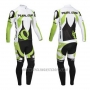 2013 Cycling Jersey Pearl Izumi White and Green Long Sleeve and Bib Tight