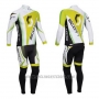 2013 Cycling Jersey Scott White and Yellow5 Long Sleeve and Salopette