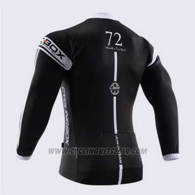 2014 Cycling Jersey Fox Cyclingbox Black and White Long Sleeve and Bib Tight