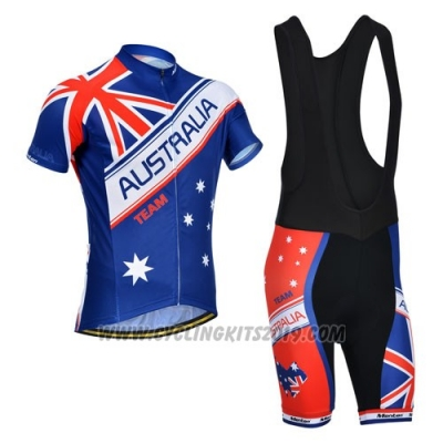 2014 Cycling Jersey Monton Campione Australia Short Sleeve and Bib Short