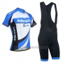 2014 Cycling Jersey Monton White and Sky Blue Short Sleeve and Bib Short