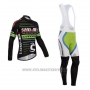 2014 Cycling Jersey Sho Air Cannondale Black Long Sleeve and Bib Tight
