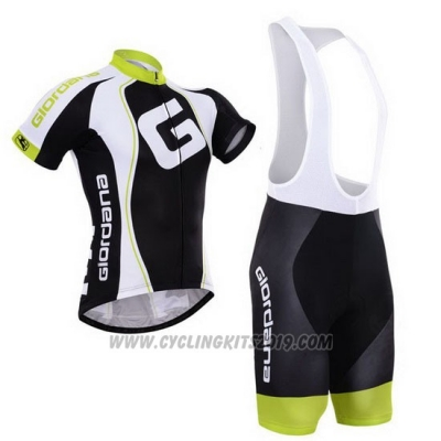 2015 Cycling Jersey Giordana Black and White Short Sleeve and Bib Short