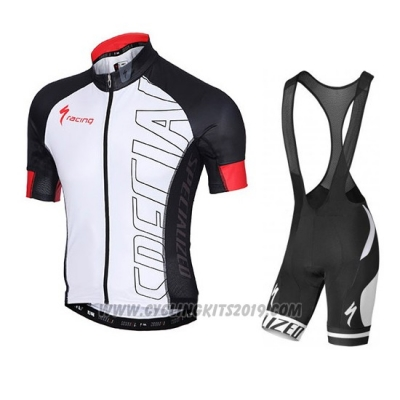 2015 Cycling Jersey Specialized Black and White Short Sleeve and Bib Short