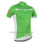 2016 Cycling Jersey Castelli Green and White Short Sleeve and Bib Short