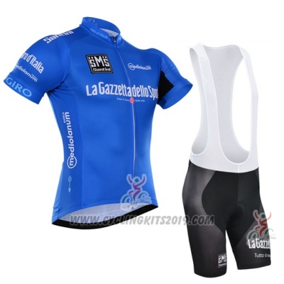 2016 Cycling Jersey Giro D'italy Blue and White Short Sleeve and Bib Short