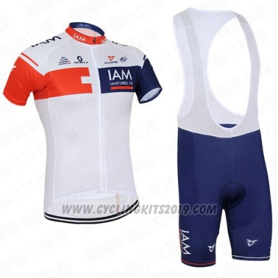 2016 Cycling Jersey IAM Red and Blue Short Sleeve and Bib Short