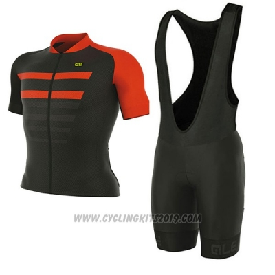 2017 Cycling Jersey ALE Prr 2.0 Piuma Black and Red Short Sleeve and Bib Short