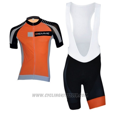 2017 Cycling Jersey Biemme Moody Orange Short Sleeve and Bib Short