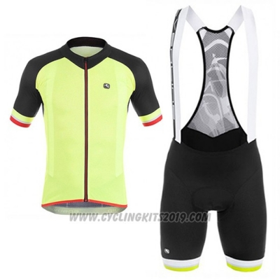 2017 Cycling Jersey Giordana Yellow Short Sleeve and Bib Short