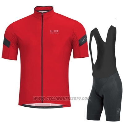 2017 Cycling Jersey Gore Bike Wear Power Red Short Sleeve and Bib Short