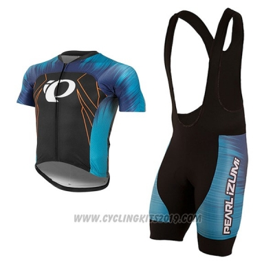 2017 Cycling Jersey Pearl Izumi Blue and Black Short Sleeve and Bib Short