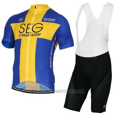 2017 Cycling Jersey SEG Racing Academy Campione Svezia Short Sleeve and Bib Short