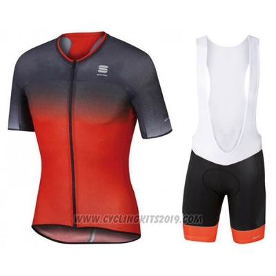 2017 Cycling Jersey Sportful R&d Ultraskin Red and Gray Short Sleeve and Bib Short