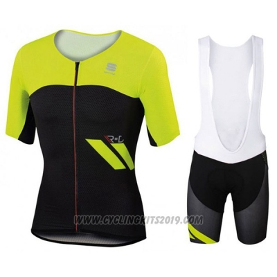 2017 Cycling Jersey Sportful Yellow and Black Short Sleeve and Bib Short 1065dc477