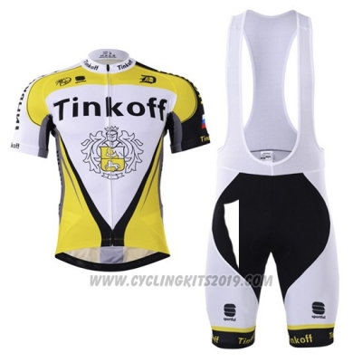 2017 Cycling Jersey Tinkoff Yellow Short Sleeve and Bib Short