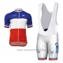 2017 Cycling Jersey UCI ALE White and Red Short Sleeve and Bib Short