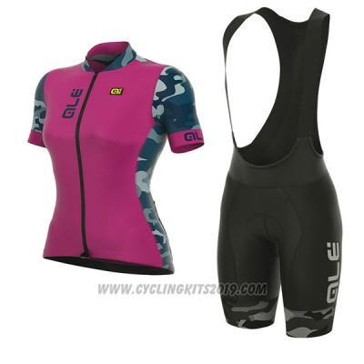 2017 Cycling Jersey Women ALE Prr Ventura Pink Short Sleeve and Bib Short