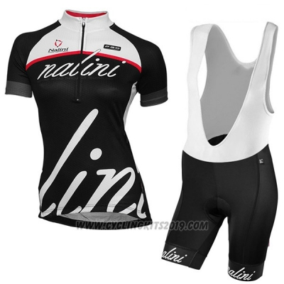2017 Cycling Jersey Women Nalini Classic Black Short Sleeve and Bib Short