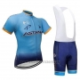 2018 Cycling Jersey Astana Dark Blue Short Sleeve and Bib Short
