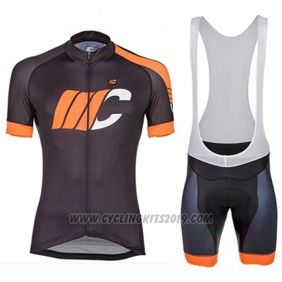 2018 Cycling Jersey Cipollini Easy Black and Orange Short Sleeve and Bib Short