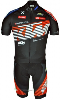 2018 Cycling Jersey Ktm Orange Short Sleeve and Salopette