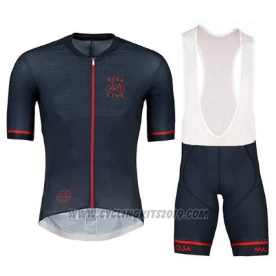 2018 Cycling Jersey Maloja Pushbikersm Black Short Sleeve and Bib Short