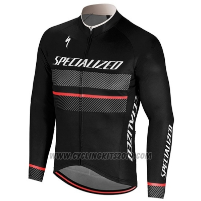 2018 Cycling Jersey Specialized Black Long Sleeve and Bib Tight