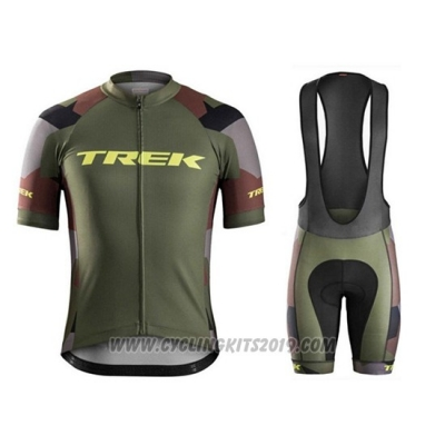 2018 Cycling Jersey Trek Camouflage Short Sleeve and Bib Short